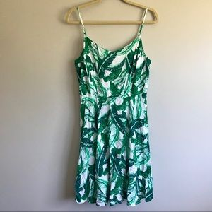 Old Navy Banana Leaf Print Fit and Flare Dress